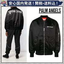 Palm Angels Short Street Style Plain MA-1 Oversized Bomber Jackets