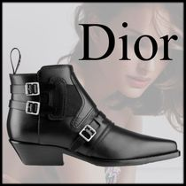Christian Dior Unisex Plain Office Style Ankle & Booties Boots