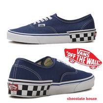 VANS AUTHENTIC Other Check Patterns Unisex Sneakers