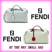 FENDI BY THE WAY Plain Leather Office Style Totes