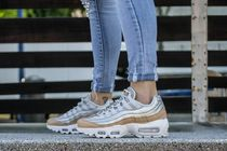 Nike AIR MAX 95 Rubber Sole Lace-up Casual Style Unisex Plain