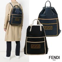 FENDI FOREVER Plain Leather Focused Brands Backpacks
