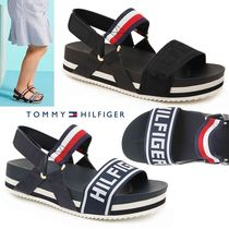 Tommy Hilfiger Open Toe Platform Casual Style Faux Fur Plain Sport Sandals