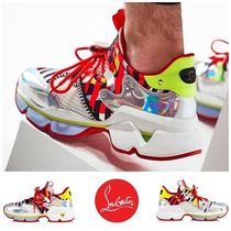 e639b98a7af0 Christian Louboutin Stripes Blended Fabrics Street Style Plain Leather  Sneakers