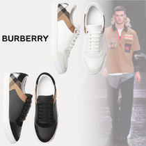 Burberry Other Check Patterns Blended Fabrics Street Style Plain