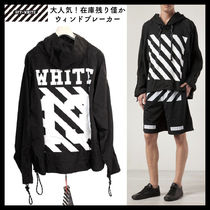 Off-White Pullovers Unisex Street Style Long Sleeves Hoodies