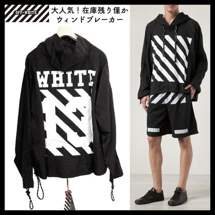 Off-White Hoodies Pullovers Unisex Street Style Long Sleeves Hoodies