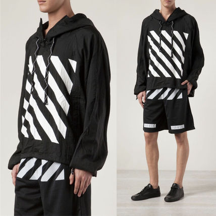 Off-White Hoodies Pullovers Unisex Street Style Long Sleeves Hoodies 2