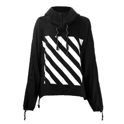 Off-White Hoodies Pullovers Unisex Street Style Long Sleeves Hoodies 4