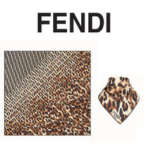 FENDI Monogram Silk Lightweight Scarves & Shawls
