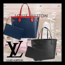 Louis Vuitton NEVERFULL Monogram A4 2WAY Leather Elegant Style Handbags