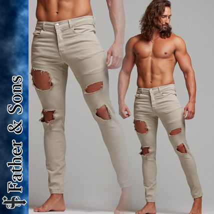 Father & Sons More Jeans Street Style Plain Cotton Jeans