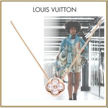 Louis Vuitton MONOGRAM Blended Fabrics Flower Chain Brass With Jewels Elegant Style