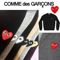 COMME des GARCONS Heart Unisex Wool Street Style Cardigans