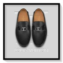 Louis Vuitton Moccasin Blended Fabrics Plain Leather U Tips