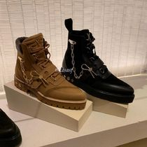 Louis Vuitton MONOGRAM Plain Toe Mountain Boots Blended Fabrics Street Style