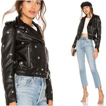 Short Star Casual Style Faux Fur Jackets