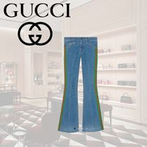 GUCCI Denim Long Wide & Flared Jeans