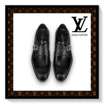 Louis Vuitton Other Check Patterns Plain Toe Blended Fabrics Plain Leather