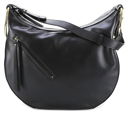 2WAY Plain Leather Handmade Office Style Shoulder Bags