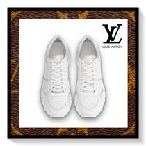 Louis Vuitton Flower Patterns Blended Fabrics Plain Leather Sneakers