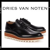 0c7b461bb8 Dries Van Noten Round Toe Rubber Sole Lace-up Casual Style Plain Shoes