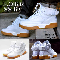 Ewing Athletics Unisex Street Style Plain Leather Sneakers