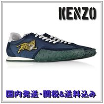 KENZO Suede Blended Fabrics Plain Other Animal Patterns Sneakers