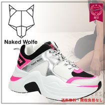 Naked Wolfe Rubber Sole Casual Style Unisex Street Style Leather