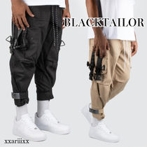 Blended Fabrics Street Style Plain Cotton Cargo Pants