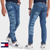 Tommy Hilfiger Tapered Pants Denim Street Style Plain Tapered Pants