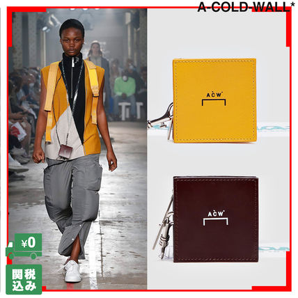 Unisex Street Style Long Wallet  Card Holder Logo Coin Cases