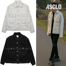 ASCLO Denim Street Style Plain Jackets
