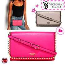 Victoria's secret Faux Fur Studded Plain Shoulder Bags