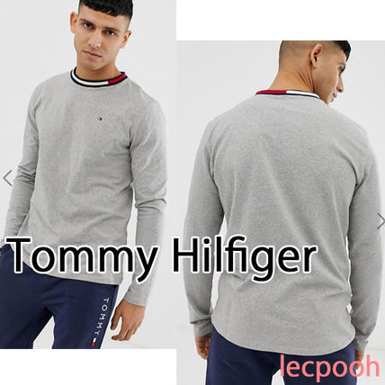 57a03c739ca0b Tommy Hilfiger. Crew Neck Unisex Street Style Long Sleeves Plain Cotton   2019 SS