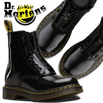 Dr Martens Lace-up Unisex Street Style Plain Leather Lace-up Boots