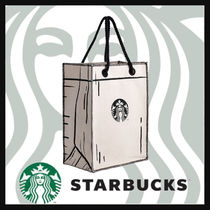 STARBUCKS Casual Style Blended Fabrics Street Style A4 2WAY Co-ord