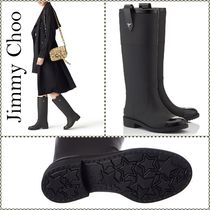 Jimmy Choo Star Blended Fabrics Plain Flat Boots