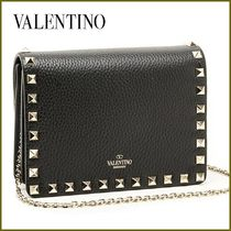 VALENTINO Studded Street Style 2WAY Chain Party Style Clutches