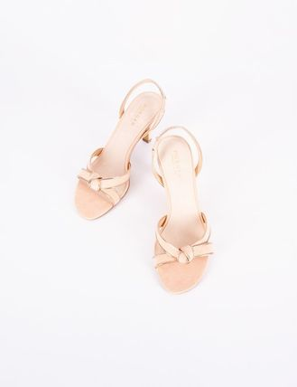 Plain Leather With Jewels Sandals