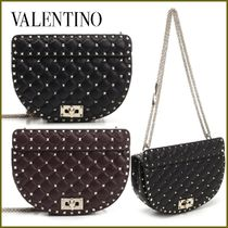 VALENTINO Casual Style Studded 2WAY Chain Shoulder Bags