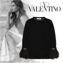 VALENTINO Cashmere Long Sleeves Plain Cashmere
