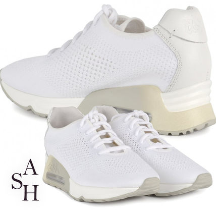 Round Toe Rubber Sole Casual Style Studded Street Style