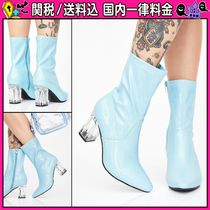 DOLLS KILL Casual Style Plain Block Heels PVC Clothing
