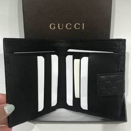 GUCCI Folding Wallets Unisex Leather Folding Wallets 3