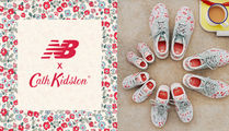 New Balance Flower Patterns Rubber Sole Lace-up Casual Style Tweed