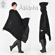 Aakasha Wool Plain Medium Handmade Ponchos & Capes