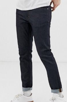 Tapered Pants Cotton Jeans & Denim