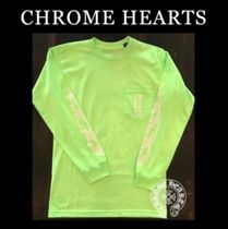 CHROME HEARTS Unisex Street Style Long Sleeves T-Shirts