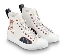 Louis Vuitton Blended Fabrics Street Style Plain Sneakers